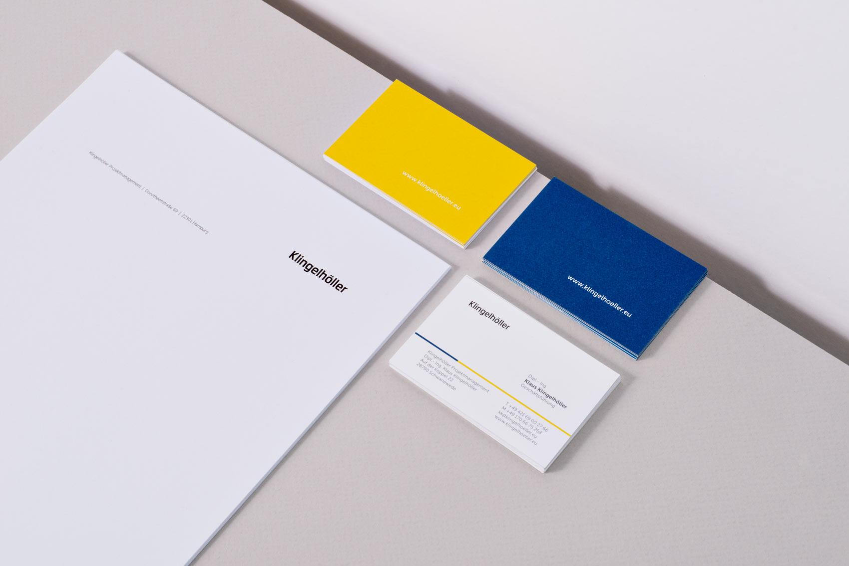 Visitenkarte Klingelhöller Venturier Design Hamburg