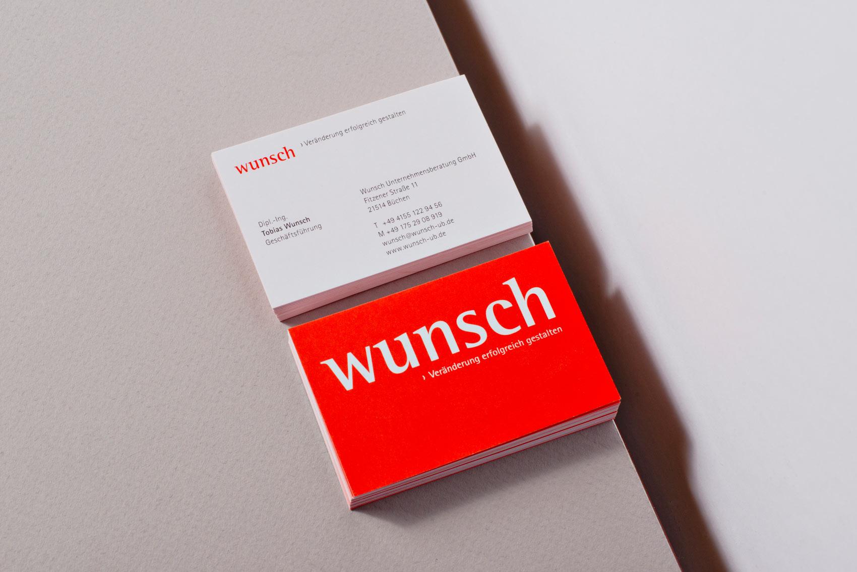 Visitenkarte Wunsch Unternehmensberatung Venturier Design